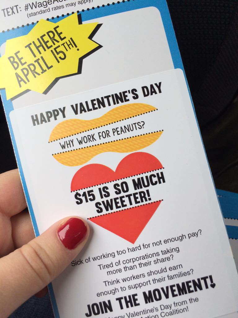 We <3 all the workers working hard on this day of love! #raisethewage #wageaction http://t.co/9o47DBgtRC