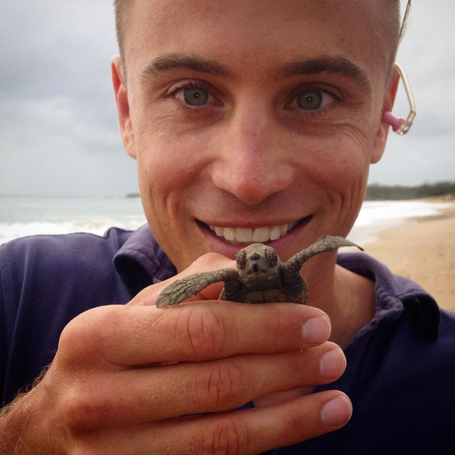 The newest member of the Weekend @sunriseon7 team... Col the Loggerhead Turtle. http://t.co/9dFQ2MdMdm