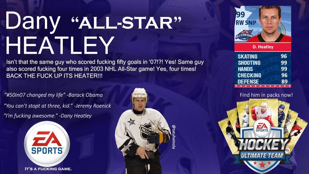 Dany heatley 50 in 07