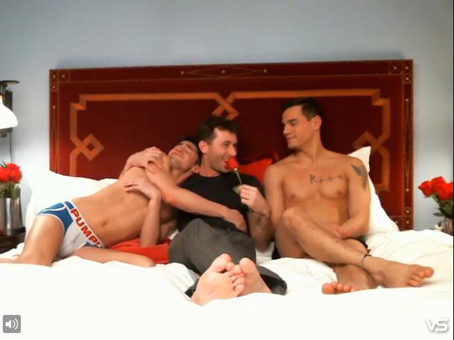 Gay man masturbation