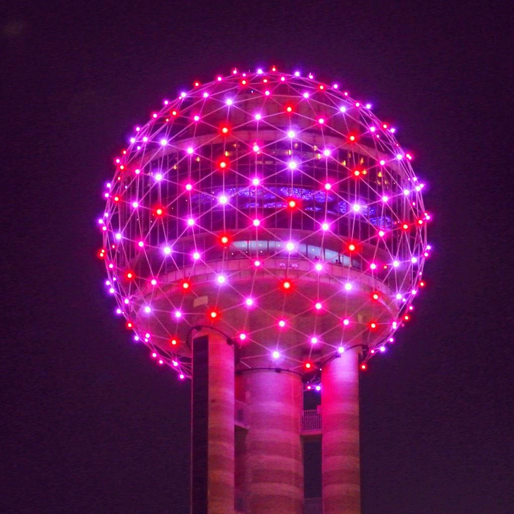 "reunion tower on twitter: ""love is in the air, and in my light, Ideas"