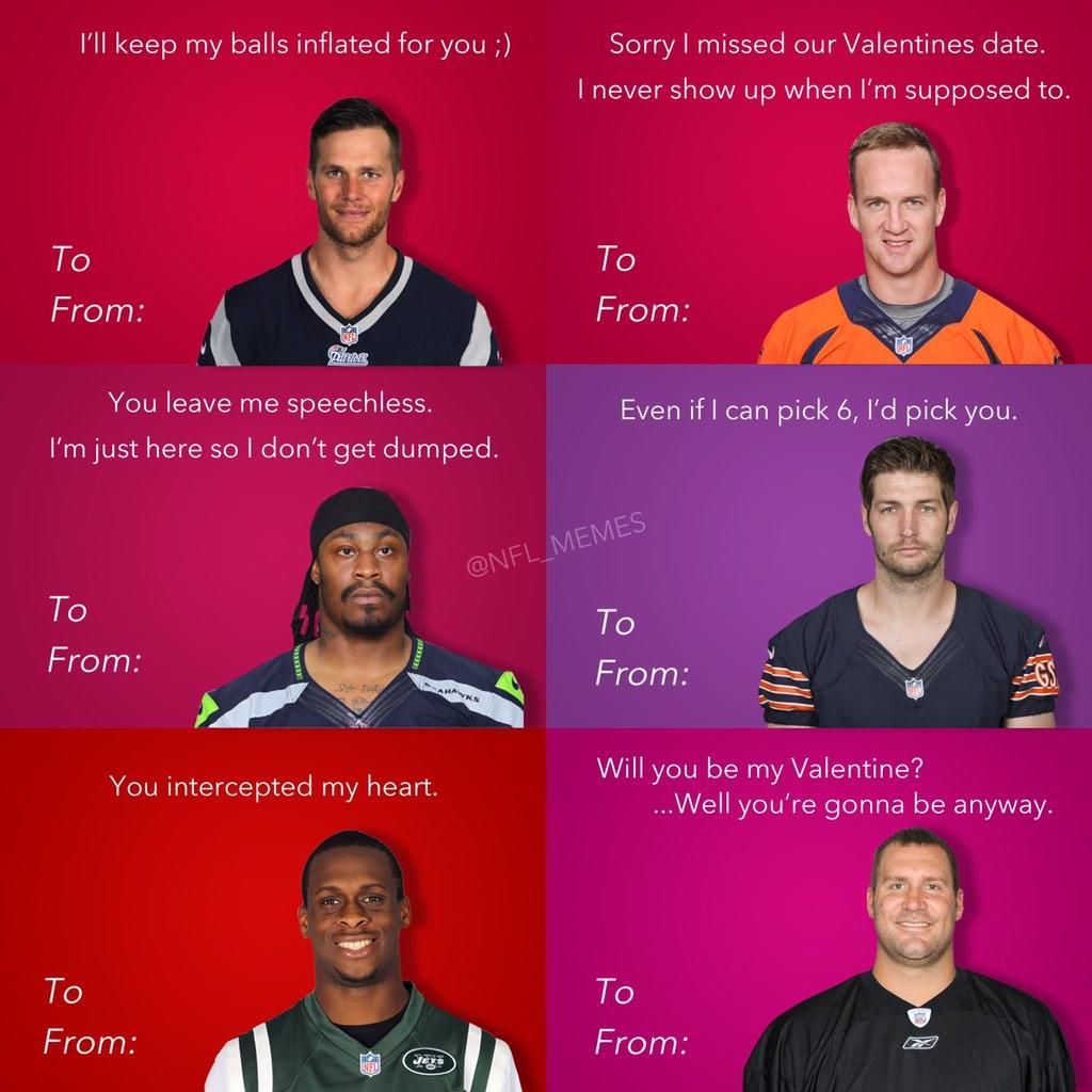 NFL Memes on Twitter NFL Valentines Day Cardstco – Football Valentines Day Cards