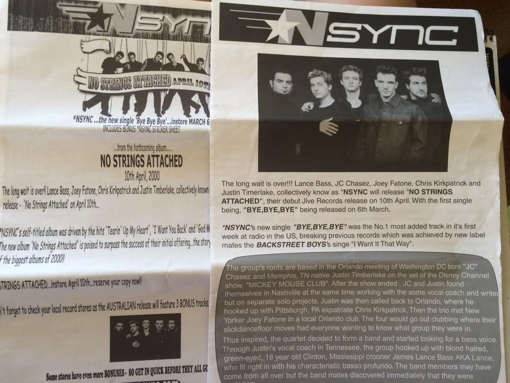 Found some old @NSYNC newsletters from 15 years ago... @jtimberlake @LanceBass http://t.co/iAtokWZl0w