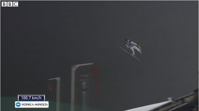 '@BBCSport: This world record ski jump is stunning - Watch: http://t.co/BwXVMGiNnK (UK only) ' wow