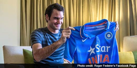 """@ndtv: #WorldCup2015:  India vs Pakistan, and Roger Federer is bleeding blue http://t.co/MRka9vRPT9 http://t.co/qcHlec77nU"" @rogerfederer"