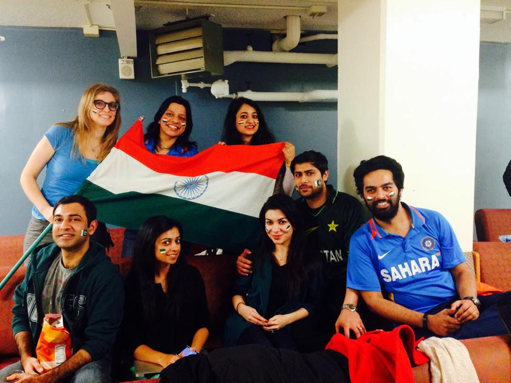 Watching the match at UPenn with our friends from across the border! #IndiaVSPakistan http://t.co/b0b1zjFwkq