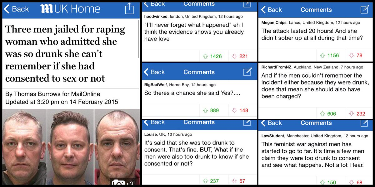 Further proof only hideous people read The Mail. RT @DMReporter: YOUR COMMENTS: A few thoughts on rape. http://t.co/qqEnsKdg58