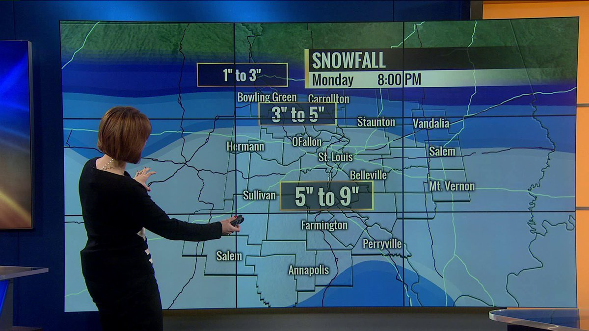 "Angela Hutti on Twitter: ""#stlwx Snow begins Sunday even ..."