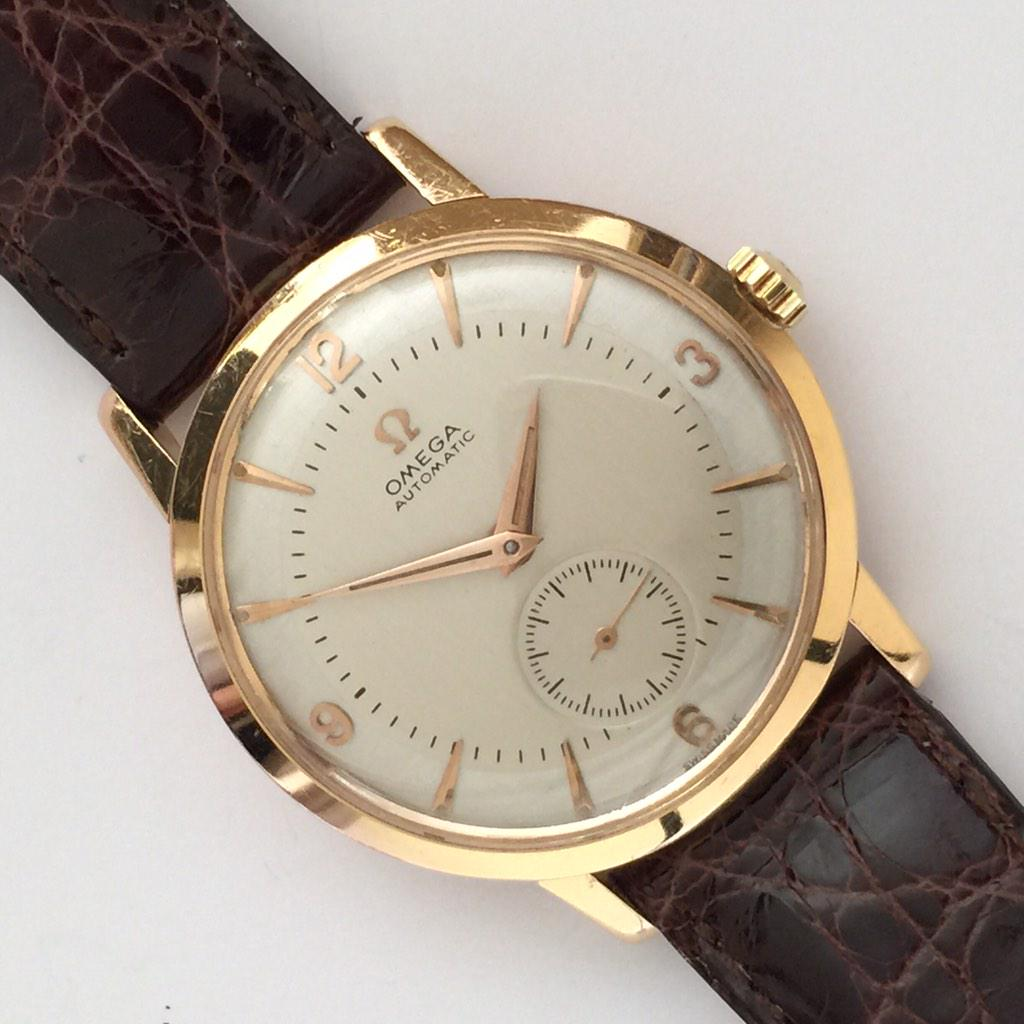 """Vintage Gold Watches London on Twitter: """"Really Beautiful, Omega Automatic,  18K Rose Gold, Two Tone Dial 1958, Cal.491 Chronometer Mvmt. As good as it  gets!! http://t.co/8qVN5ZAYYh"""""""