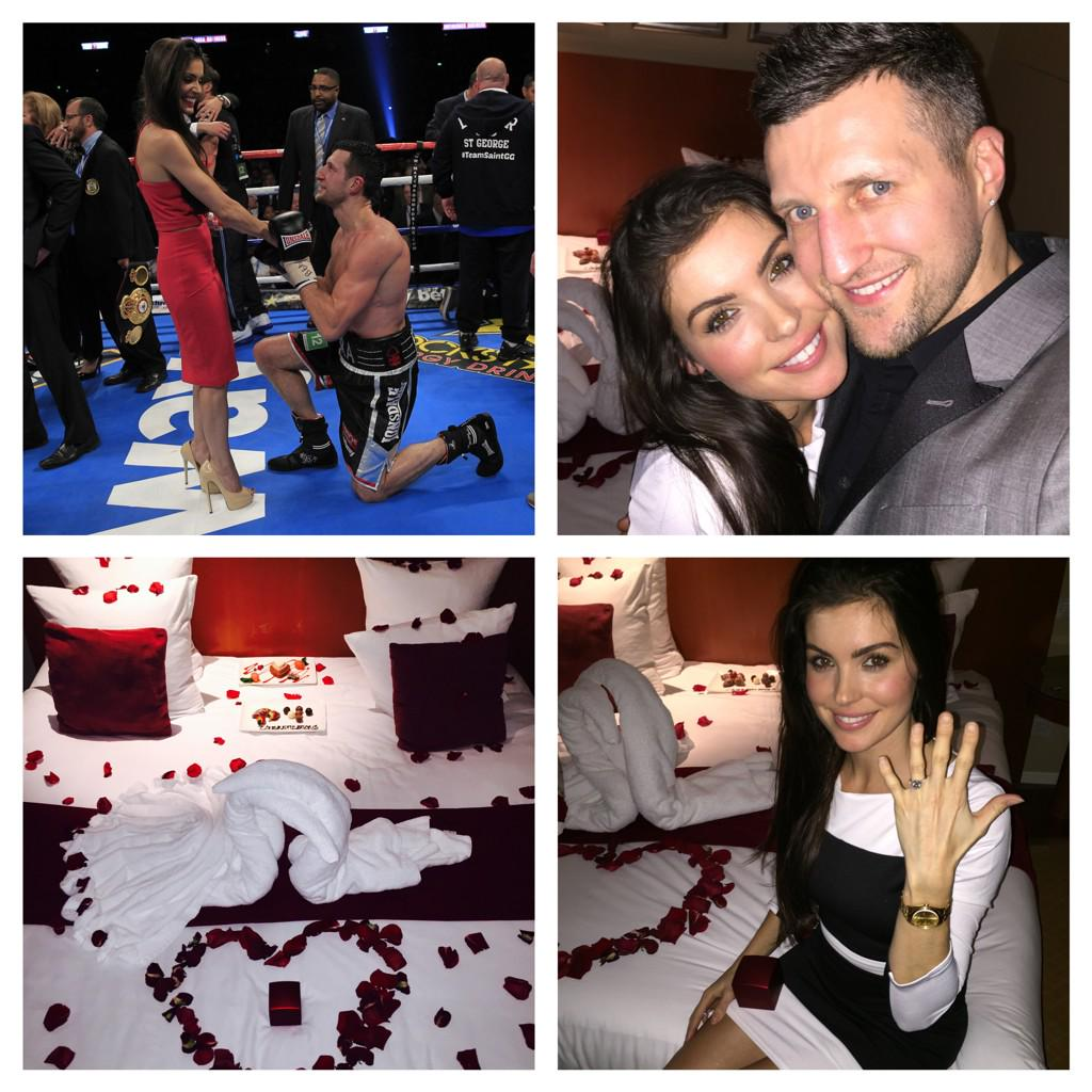 Proposed to at Wembley on 31/5/14 & I've now finally got my ring! Thank u 4 an amazing Valentine's Day @Carl_Froch ❤️ http://t.co/fA6bciUuY7