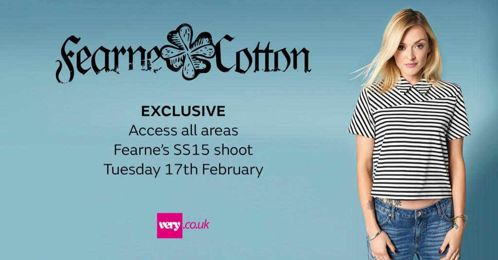 RT @verynetwork: Access all areas with @Fearnecotton - Tuesday 17th February. Follow @VeryUK on Instagram for #BehindTheScenes pics http://…