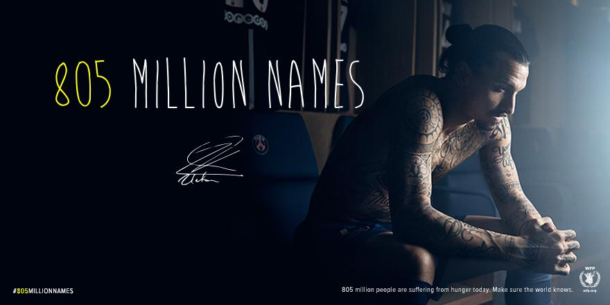 805M people suffer from hunger. Make sure the world knows. w/ @ibra_official http://t.co/6HKB32i1ov #805millionnames http://t.co/vEbUqzbJ6P