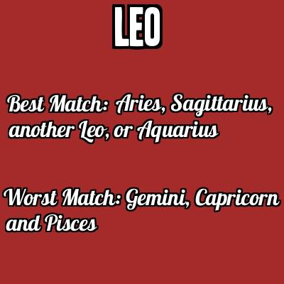 Best match for leo woman 2015