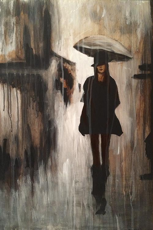 "My newest creation... ""Rain Doesn't Lie"" #originalart #painting http://t.co/VePqK7loEg"