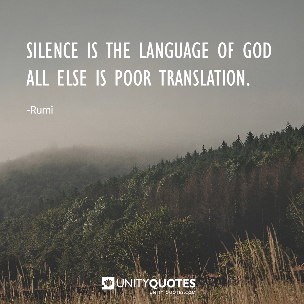 Unity Quotes On Twitter Wonderful Rumi Quotes Silence Unity