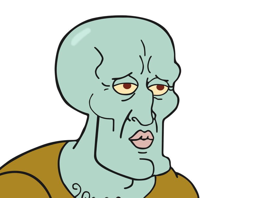 real squidward