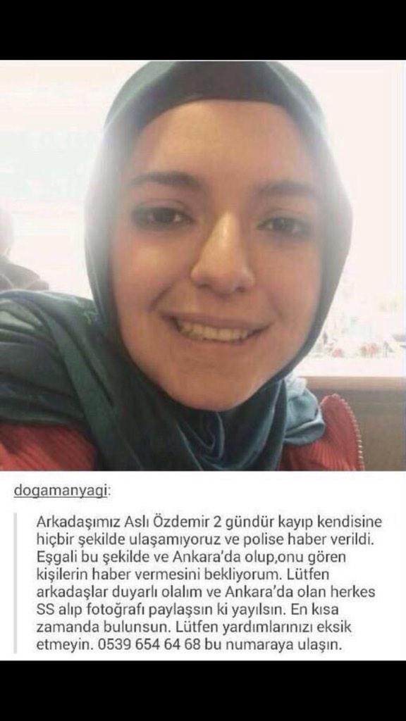 Bu kızımız da kayıpmış...Lütfen daha fazla paylaşalım...Sabaha bi kötü haber almamak dileğiyle
