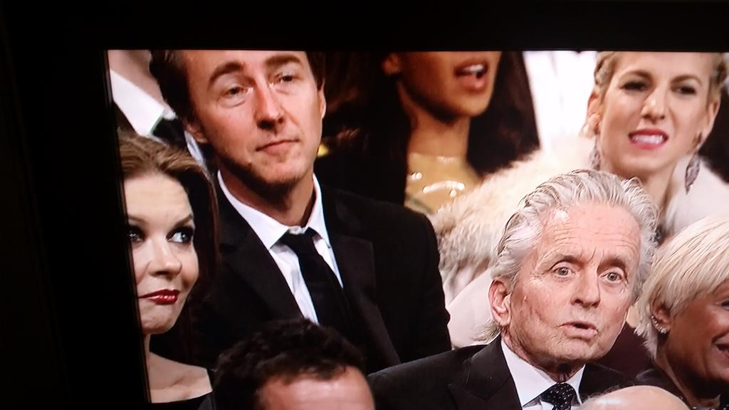 Catherine Zeta Jones eye roll after Michael said he was a sexual icon. #SNL40 http://t.co/klk0w3zt5l