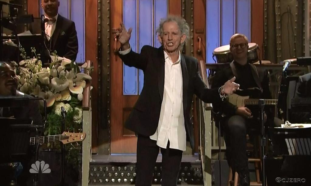 The scary thing is, this is the best Keith Richards has looked in years. #SNL40 http://t.co/HqOB0WW2nX
