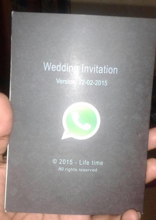Kishore on twitter a whatsapp wedding invitation card ive seen never miss a moment stopboris Choice Image