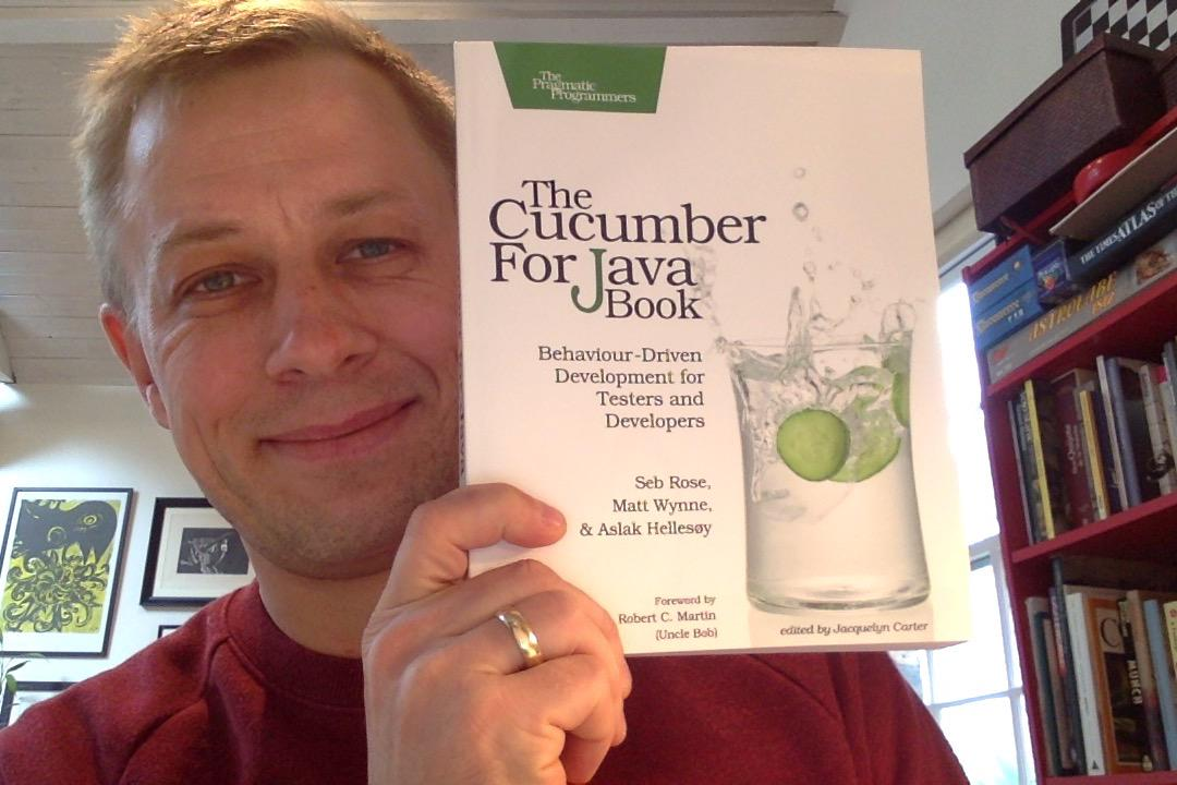 My Cucumber for Java Book arrived in the mail today! It's a Java adaptation of the Ruby book that sold 15000 copies. http://t.co/jzdSHkV6sW