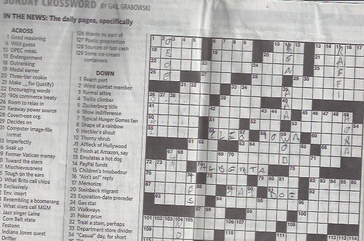 Raffi Cavoukian On Twitter A Torontostar Crossword Clue 15 Down 5 Letters Children S Troubadour Guess Who Belugagrads Http T Co Kjm6aenacc
