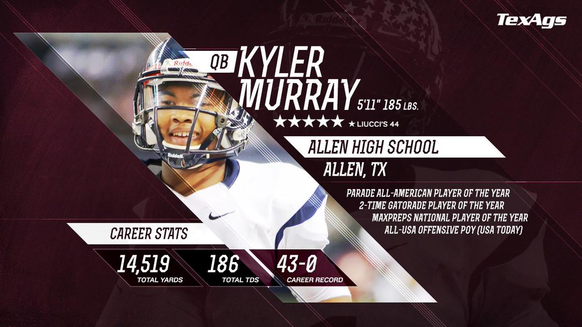 It's official. The #1 QB in the nation, and the greatest Texas HS QB of all-time, is now a Fightin' Texas AGGIE. http://t.co/5Il6CNOEJO
