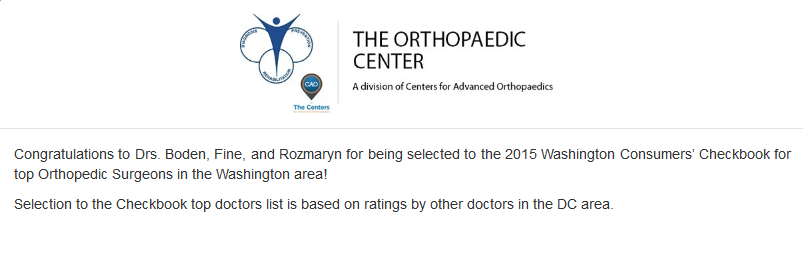 The Orthopaedic Ctr (@TheOrthoCtr) | Twitter