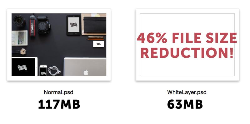 Cool Trick: Adding a white layer over a PSD will reduce it's file size. https://t.co/wSa8hss7il http://t.co/AI0OQ5lQ03