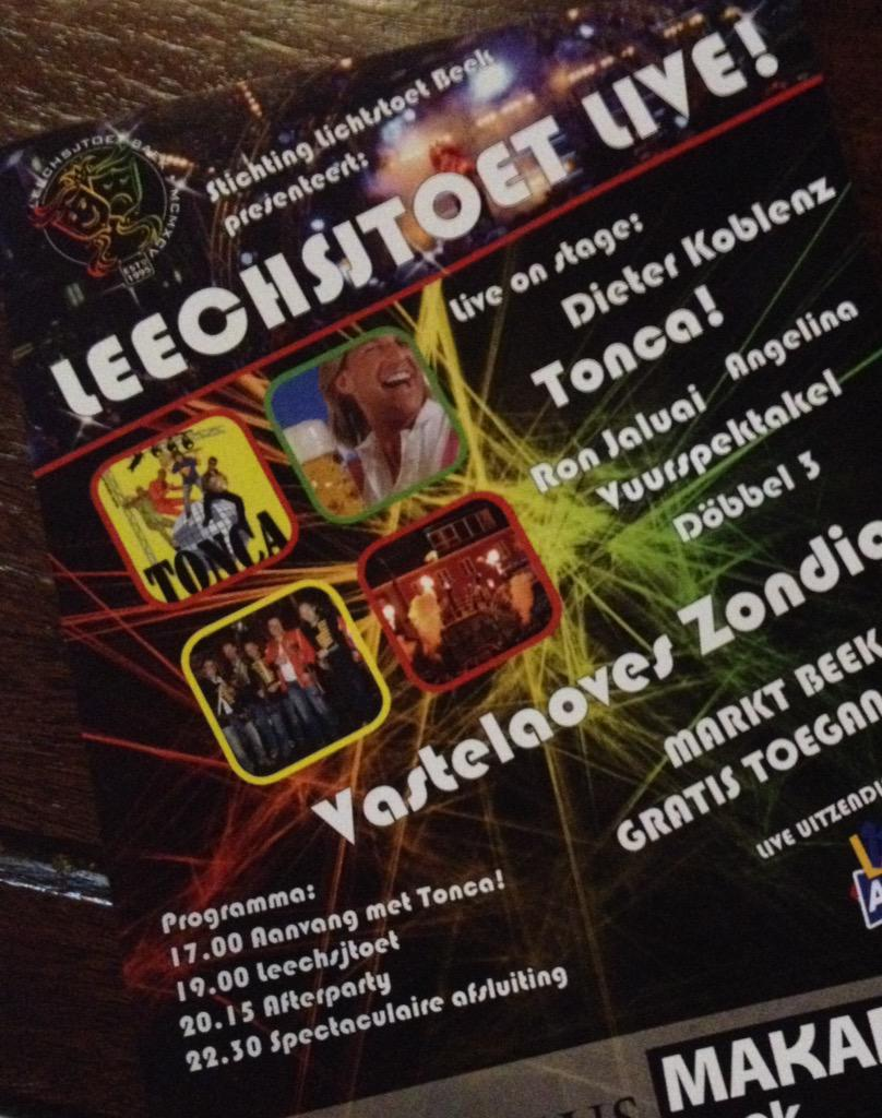 De Leechsjtoet in Baek haet weer eine Hashtag : #lichtstoet @L11Alaaf Vastelaoveszóndig live op #L1 @RalfKrewinkel http://t.co/EW0w7XVPV9