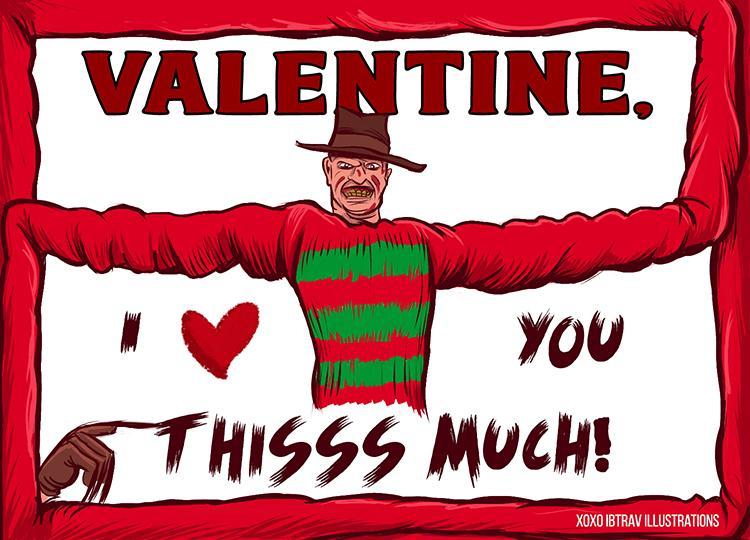horror con on twitter awesome freddy krueger valentines day card by ibtrav wescraven httpstcod1wuwss1gk httptcozsyhs5owil