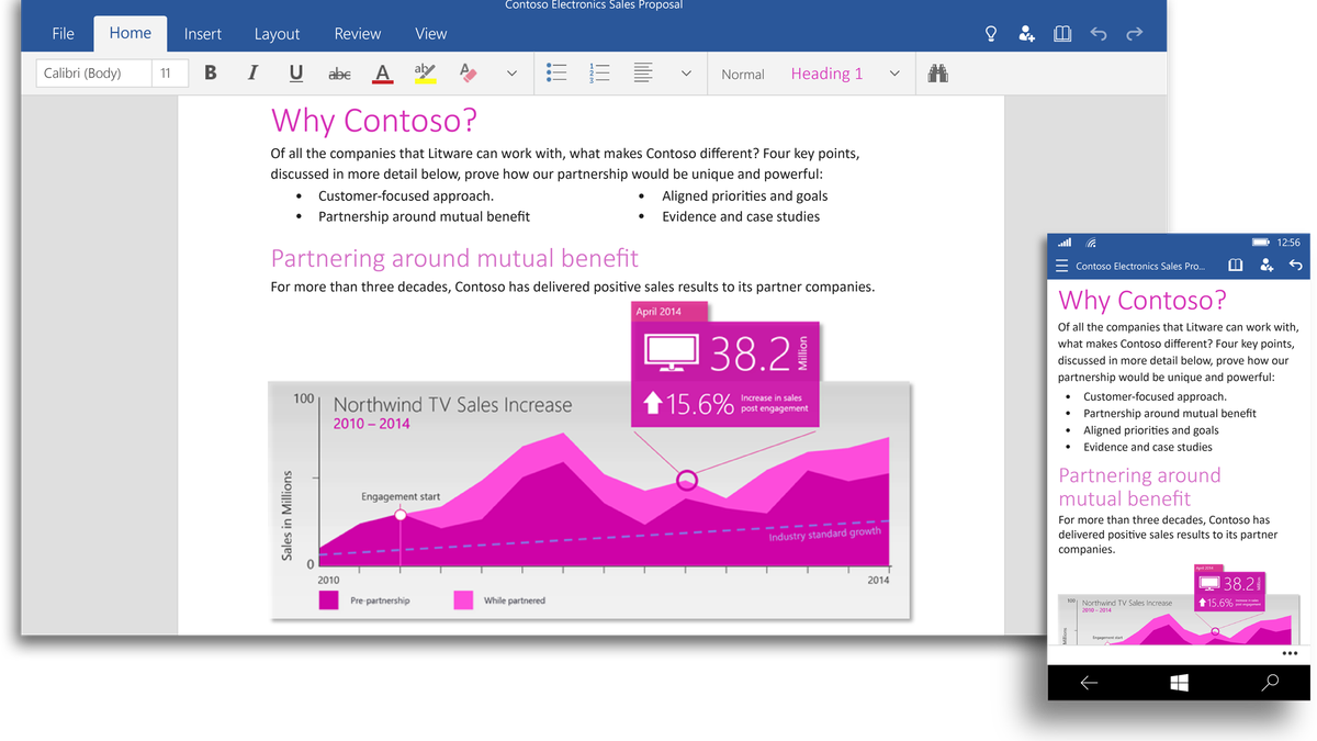 Microsoft Office is now available on Windows 10 Technical Preview