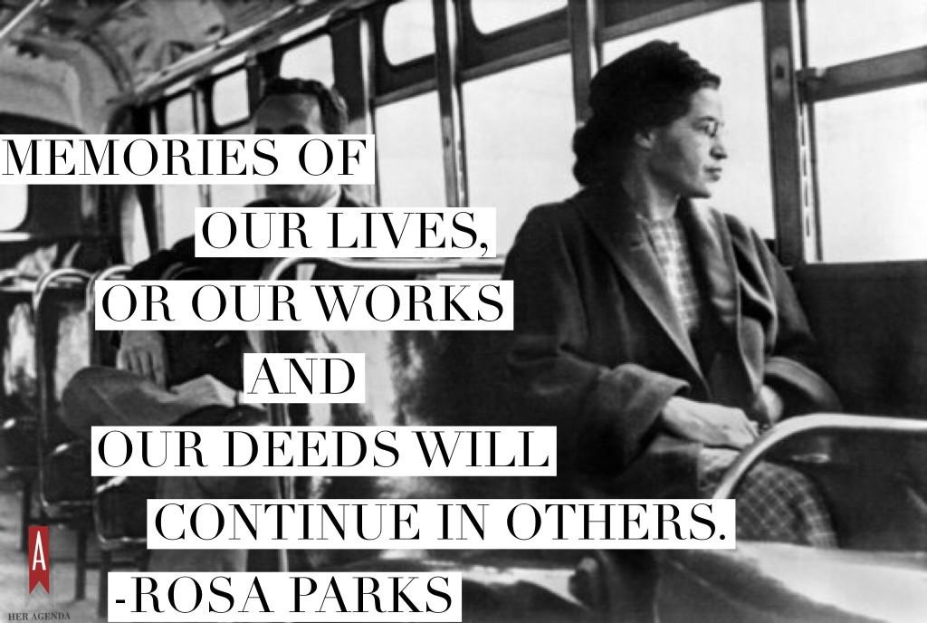 Her Agenda On Twitter New 10 Inspiring Quotes From Rosa
