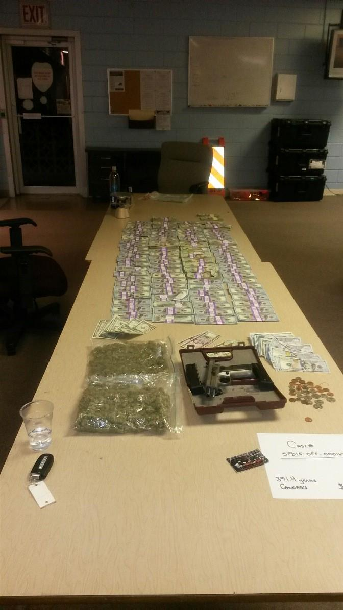 Police took 357 grams of marijuana (.787 LBs), $190,028.81 in cash and 9mm semi-automatic handgun from Guion vehicle http://t.co/aBLDTA2rtD