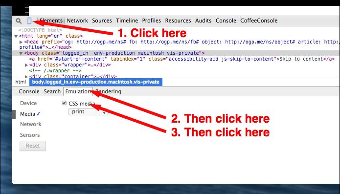 For easier development of print styles in Chrome http://t.co/zRJqEgafbJ