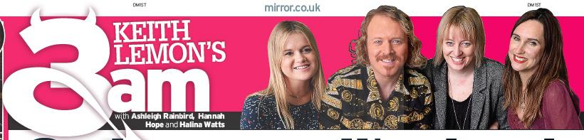 RT @Halina_3am: V excited by tomorrow's 3AM @DailyMirror @ashleigh_3am @Hannah_3am - The brilliant saucepot @lemontwittor is editing http:/…