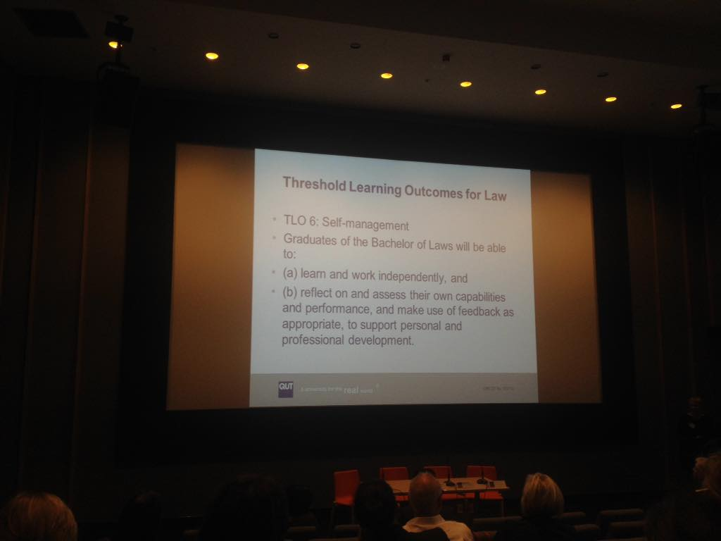 Threshold Learning Outcome for law graduates #wellnessforlaw http://t.co/gF1Nzatl3g
