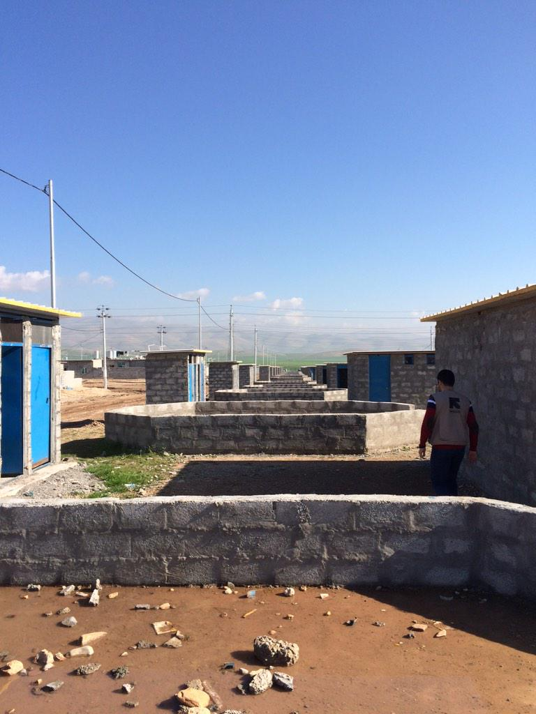 These are empty plots waiting for tents and #SyrianKurds w kitchen on right, latrines on left. http://t.co/ybhTMclfNM