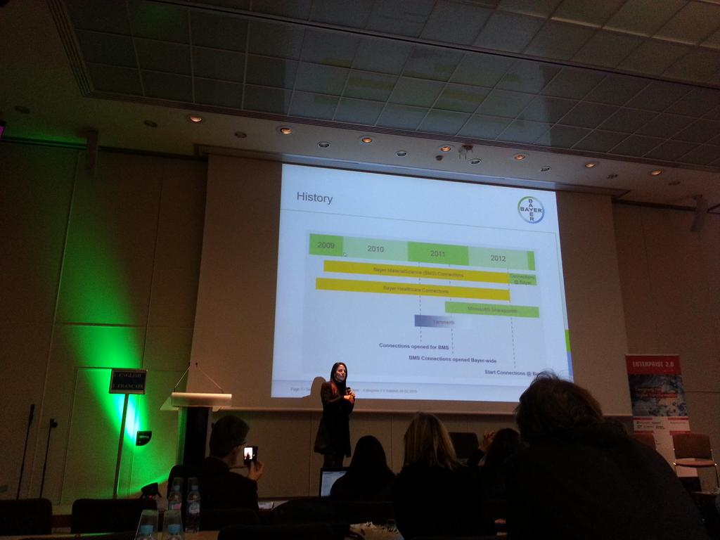 The IT collaboration journey of Bayer @laurmiller44 #e20s - Time is needed! http://t.co/rcTAUUlwAe