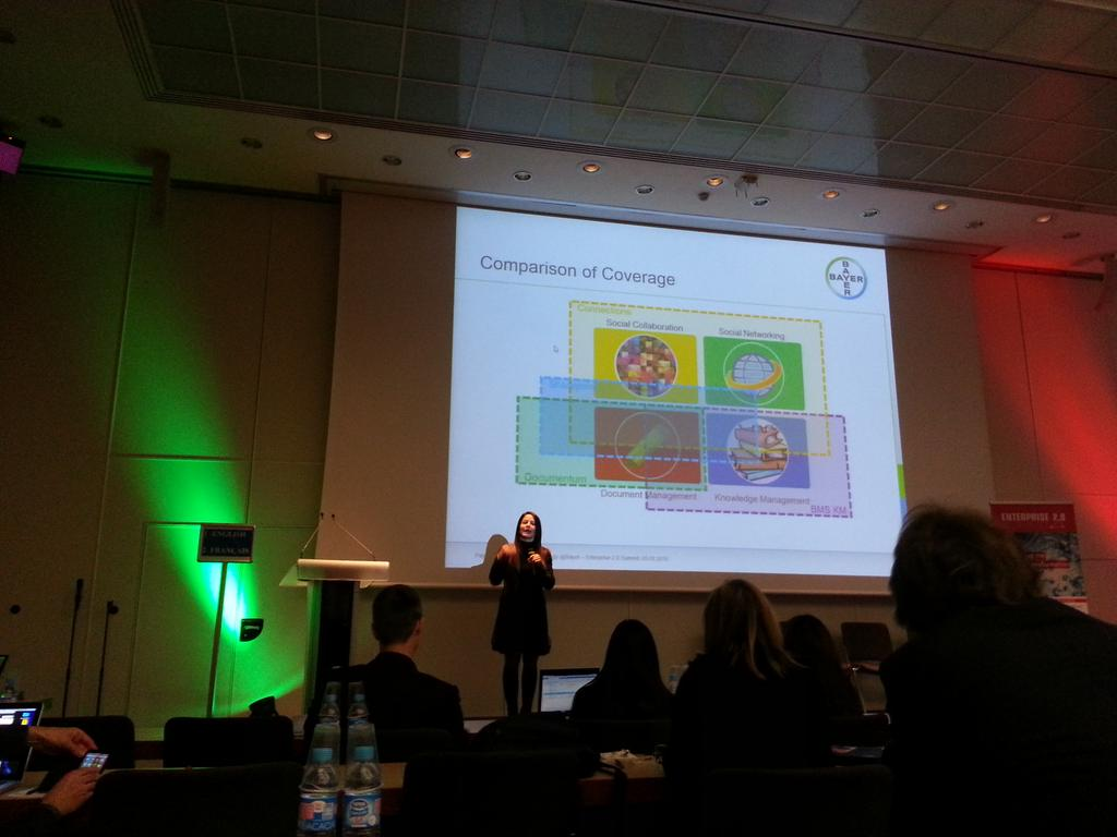Collaboration, networking, document management, KM and so on - overlapping not only at Bayer @laurmiller44 #e20s http://t.co/qnJoInq4u2