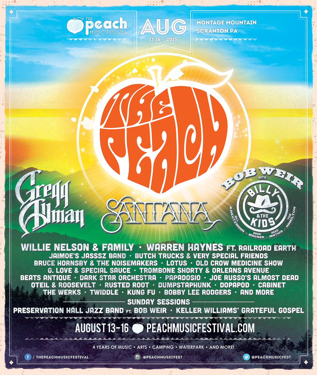 The Peach Music Festival Scranton PA 2015