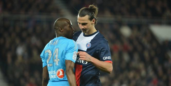 Zlatan Ibrahimovic et Joey Barton OM PSG