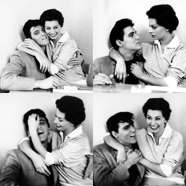 """Elvis Presley on Twitter: """"In 1958, #Elvis met Sophia Loren at ..."""