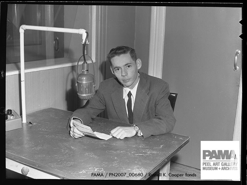 Announcer Brook Duval on CFJB #Brampton in Nov 1955. #WorldRadioDay