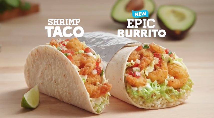 Crispy Shrimp is back! Try a Crispy Shrimp Taco or NEW Epic Crispy Shrimp Burrito. Coupon: http://t.co/84kTcUtFCZ http://t.co/UMh6hLZnUE