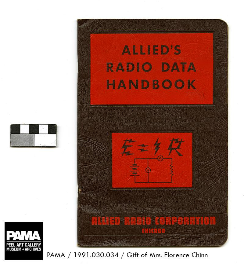 From the museum collection: Allieds Radio Data Handbook, around 1945. #WorldRadioDay