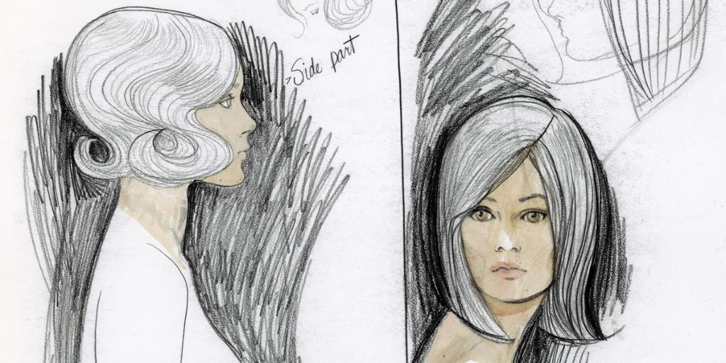 Tcm On Twitter Bonnie And Clyde 67 Hair Design Sketches
