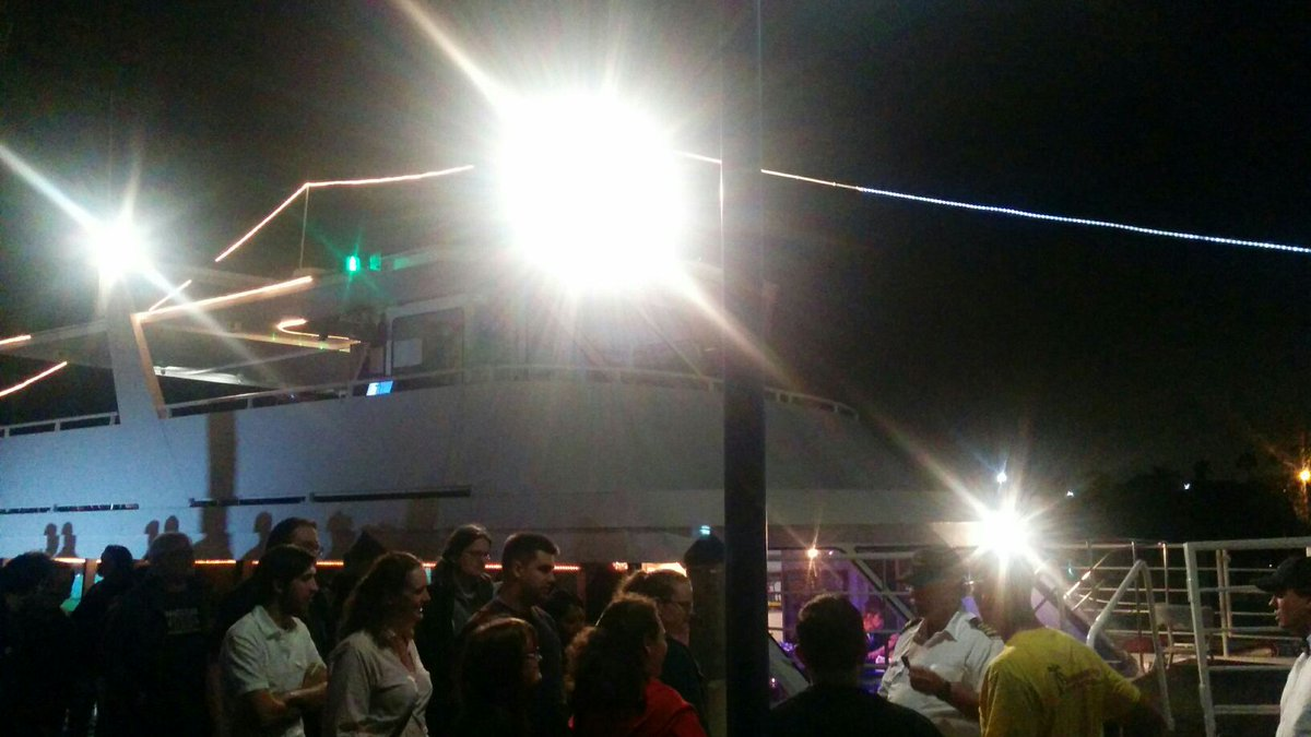 Speaker dinner on a boat. Woah. #ssp15 http://t.co/rmOjCGQRs1