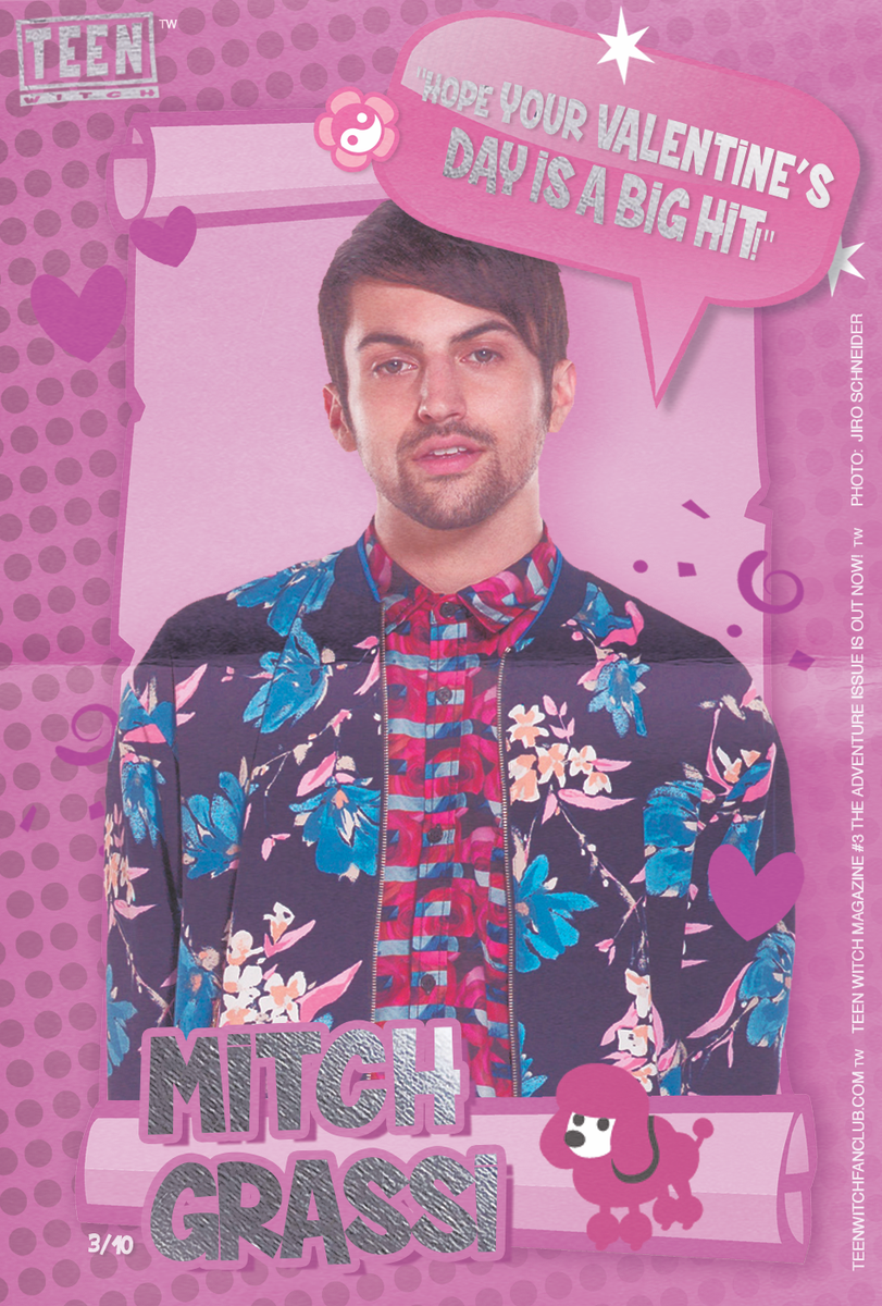 TEEN WITCH MAGAZINE VALENTINE CARDS: 3/10 MITCH GRASSI!  ORDER TEEN WITCH MAGAZINE NOW! http://t.co/Vhoyj7EppX http://t.co/ym5U7JVvmT
