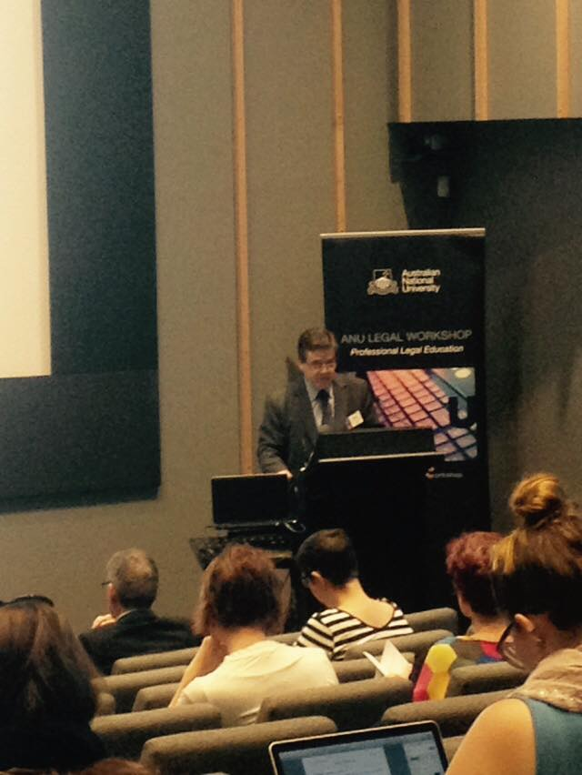 Day 2 welcome from @ANU_Law Dean Prof Stephen Bottomley #wellnessforlaw http://t.co/c12JHjaGea